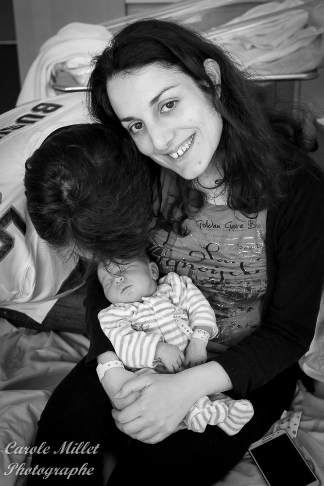 Parents et bébé maternité